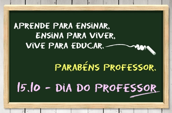 Feliz dia do #professor! 15 de outubro