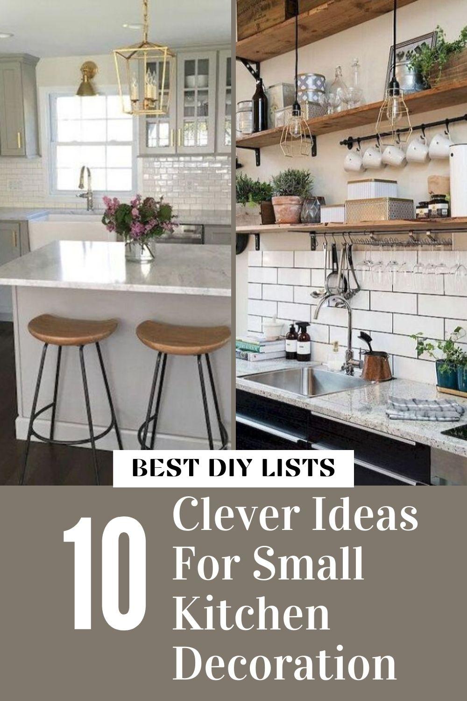 Small Kitchen Decoration Ideas in 8  Kitchen decor, Small