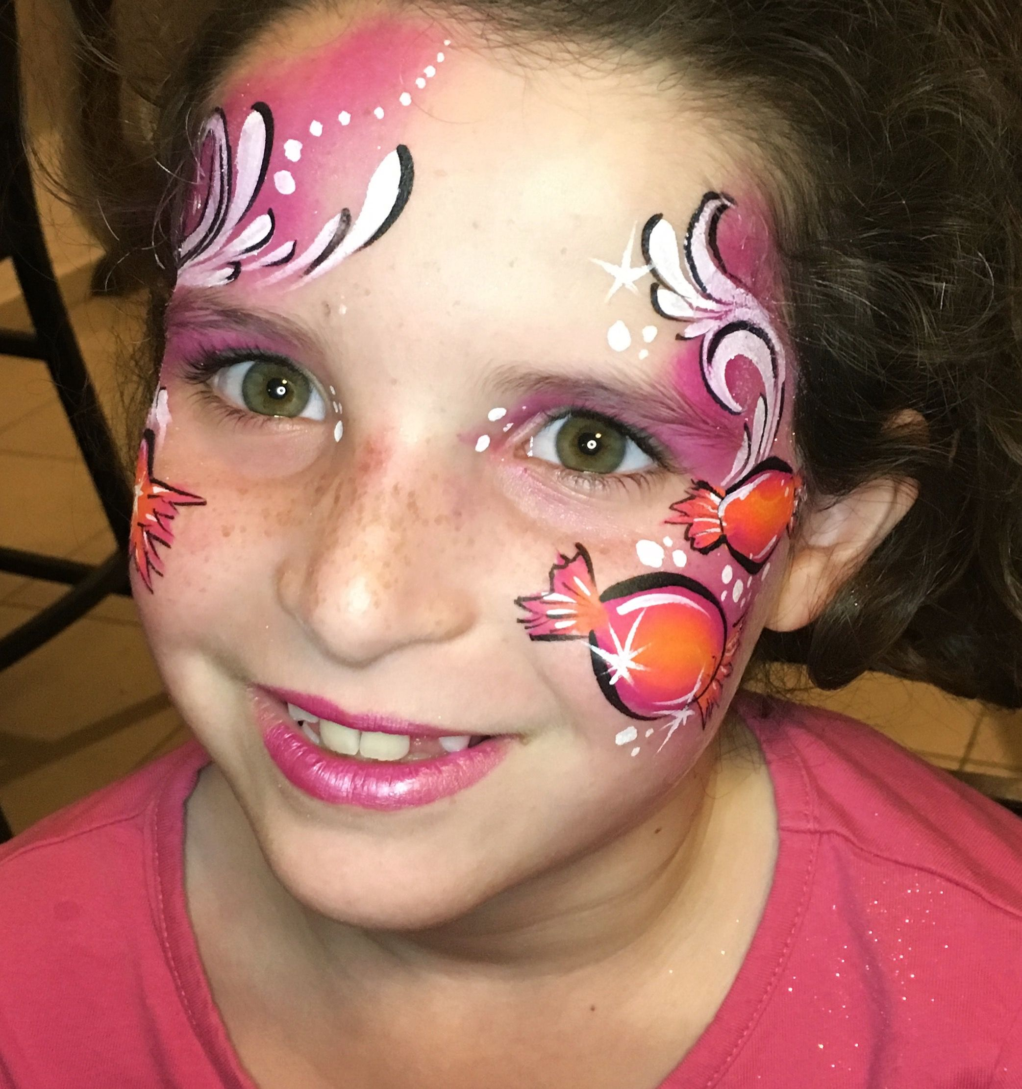 Candy Girl Facepaint By Leylashemesh Faceart And Henna