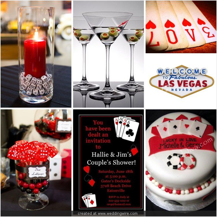 Couples Wedding Shower With Casino Night Entertainement