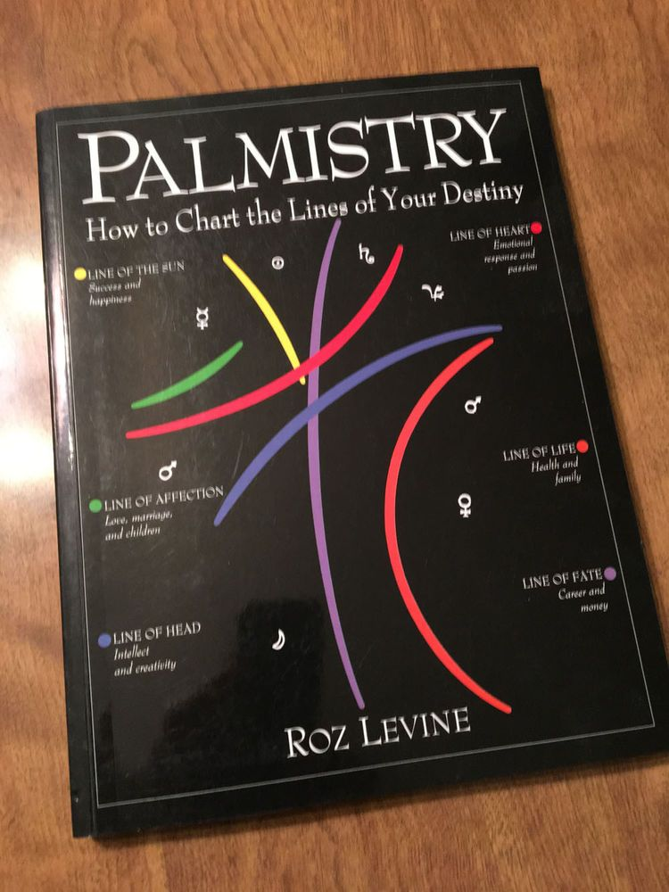 Palmistry How To Chart The Lines Of Your Destiny Roz Levine 1992 Vintage Unique Book Palmistry Chart