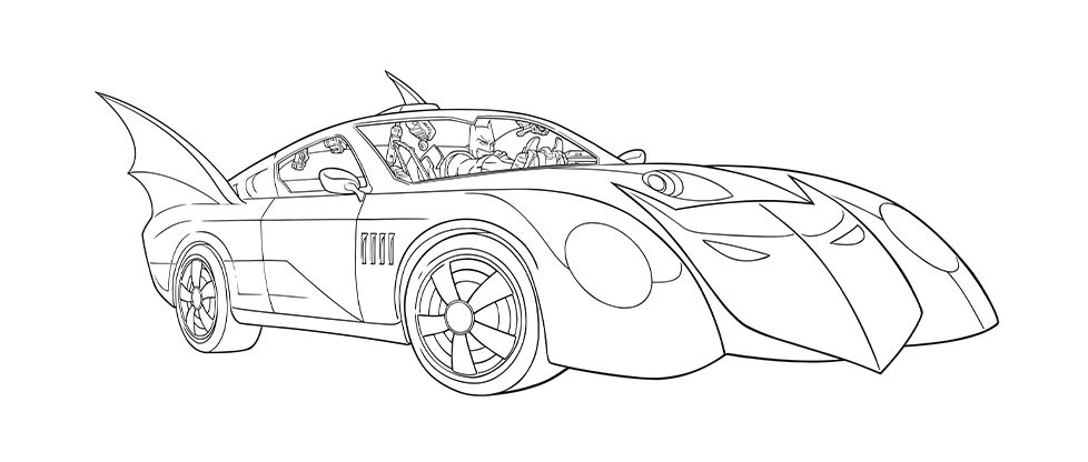 Coloriage Batmobile Coloriage Batman Coloriage Coloriage Spiderman