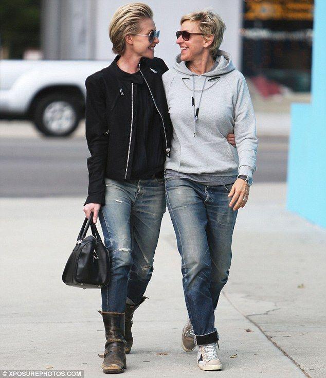 Portia De Rossi Wedding Hair: Ellen DeGeneres And Portia De Rossi Can't Take Eyes Off