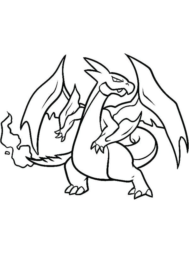 Charizard X Coloring Pages Charizard Is One Of The Monsters In The Pokemon Series It Flies Around The Sky To Search Powerful Opponents It Bre Halaman Mewarnai