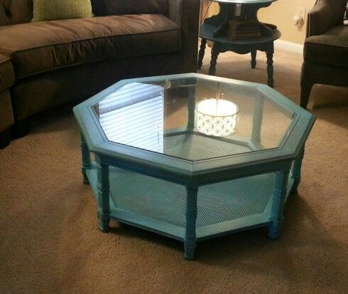before cottage octagon coffee table i
