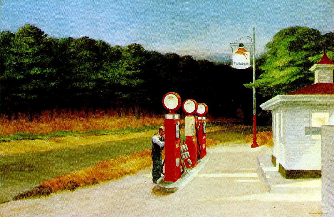 Edward Hopper. Gas, 1940. Olio su tela. Museum of Modern Art, New York