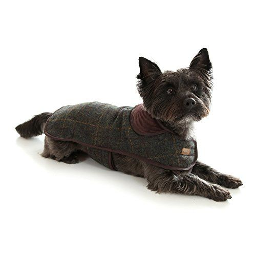 Doodlebone Tweed Dog Jacket With Harness Hole Small Gray Check