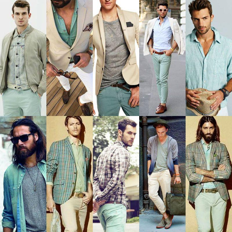 SS16 Men's Fashion Mint Color Trend