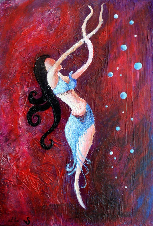 Danser Et Vivre Saveur Orientale Peinture Acrylique Effet De