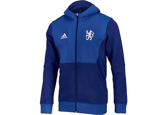 0e12ee6b773 adidas Chelsea Full-zip Fleece Hoodie - Chelsea Blue