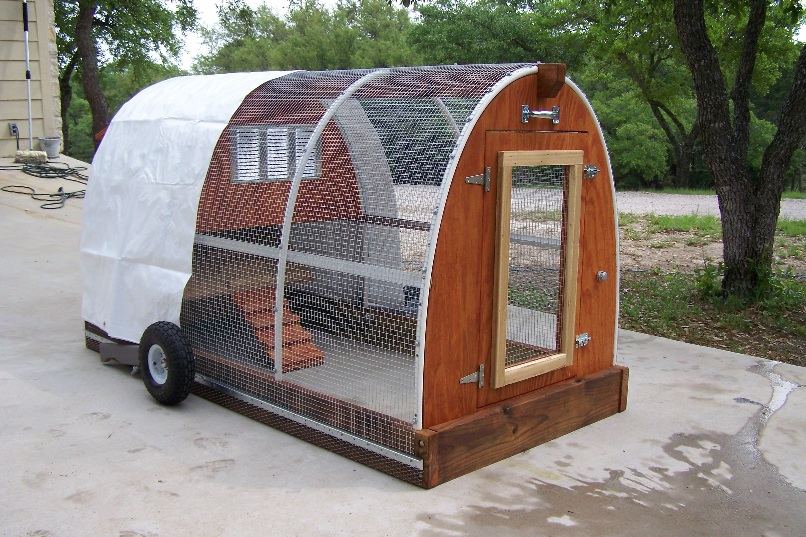Someday i would like to raise chickens for their eggs only for Portable chicken yard