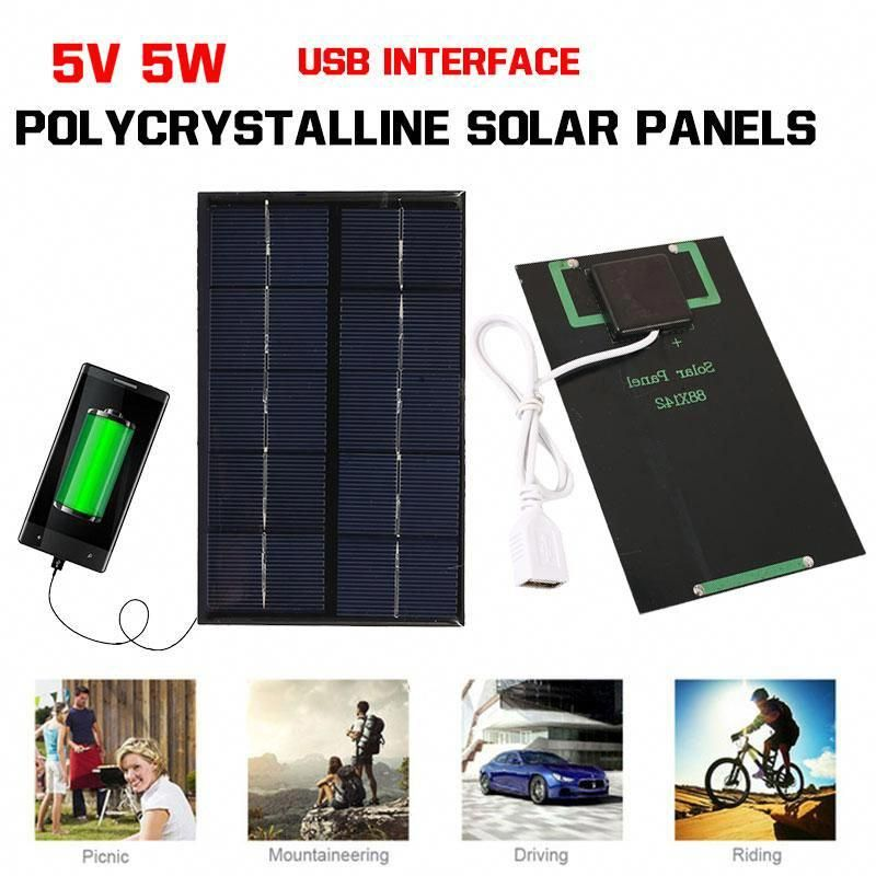Solar Panel Charger Solar Cell Outdoor Climbing Phone Charger Portable For Smartphones Solarpanels Solaren In 2020 Solar Panel Charger Solar Power Panels Solar Panels