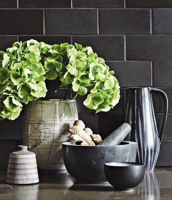 Daily Dream Decor Kitchen Backsplash Designs Black Subway Tiles Green Kitchen Accessories