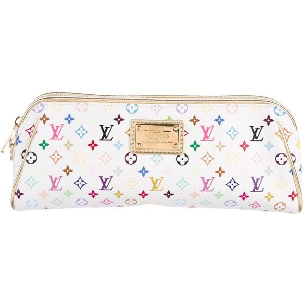 45926c2b0e82 Pre-owned Louis Vuitton Mini Monogram Multicolore Kate Clutch ( 375) ❤  liked on Polyvore featuring bags