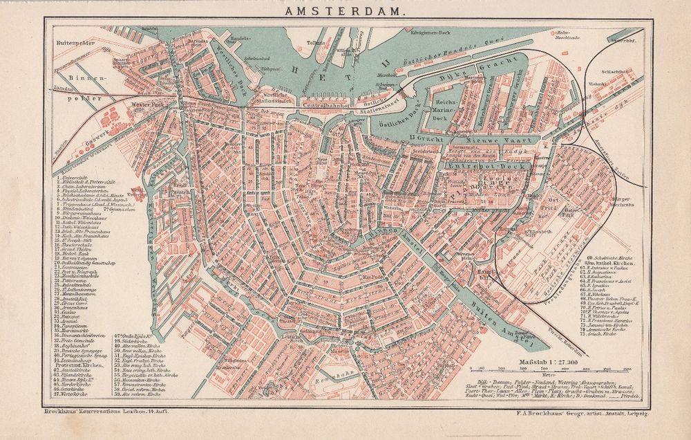 Mailand Stadtplan Lithographie 1896 alte historische Stadtkarte