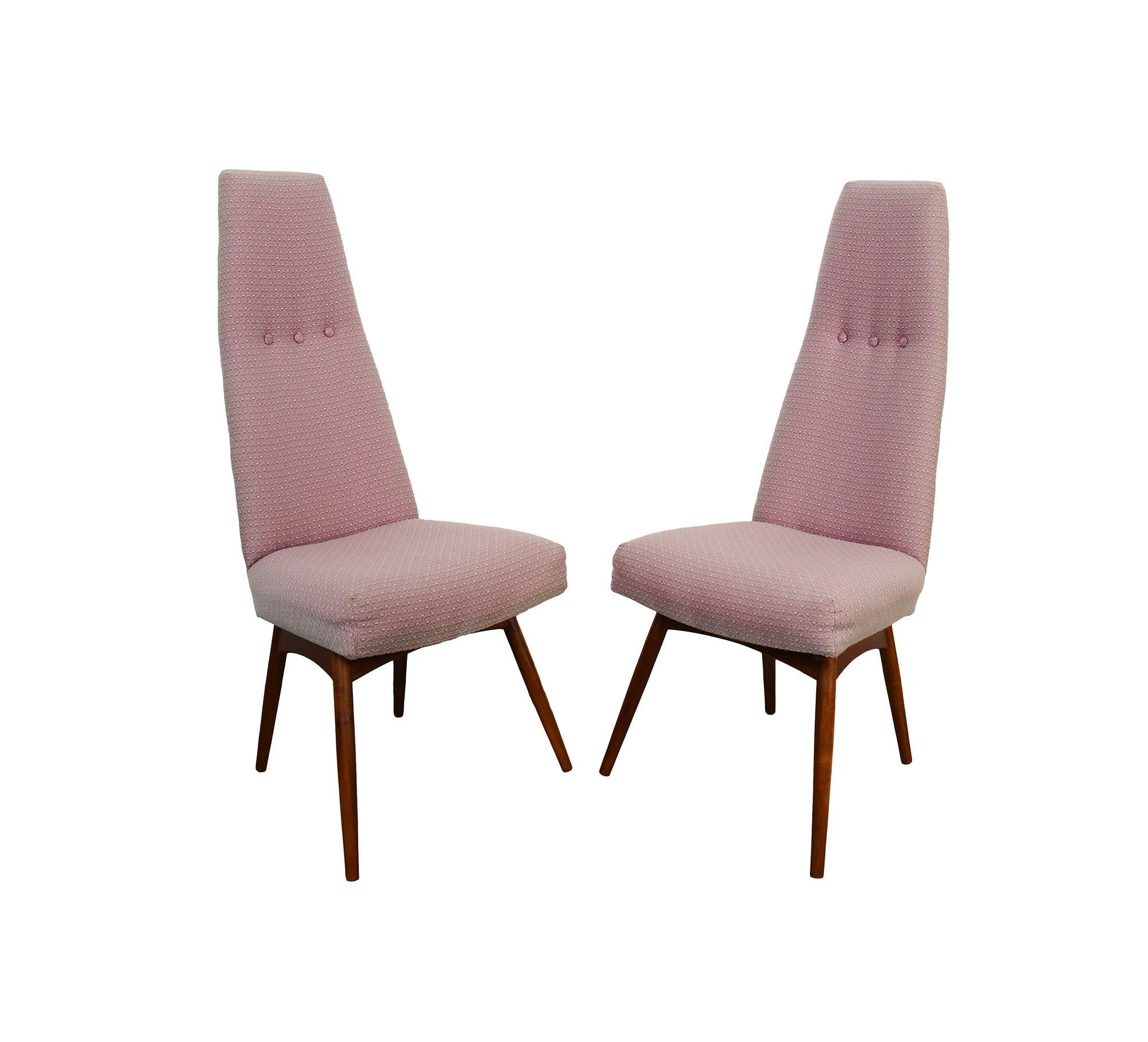 Adrian Pearsall High Back Dining Chairs Craft Associates ...