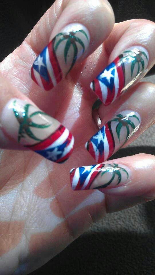 Puerto Rican Flag Pr Rico Great Nails