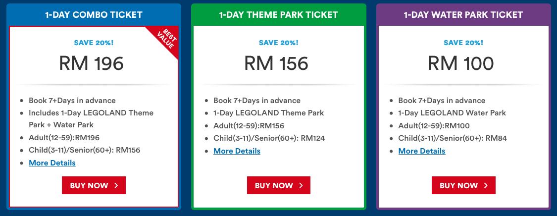 Legoland Malaysia Price Combo   Legoland malaysia ...