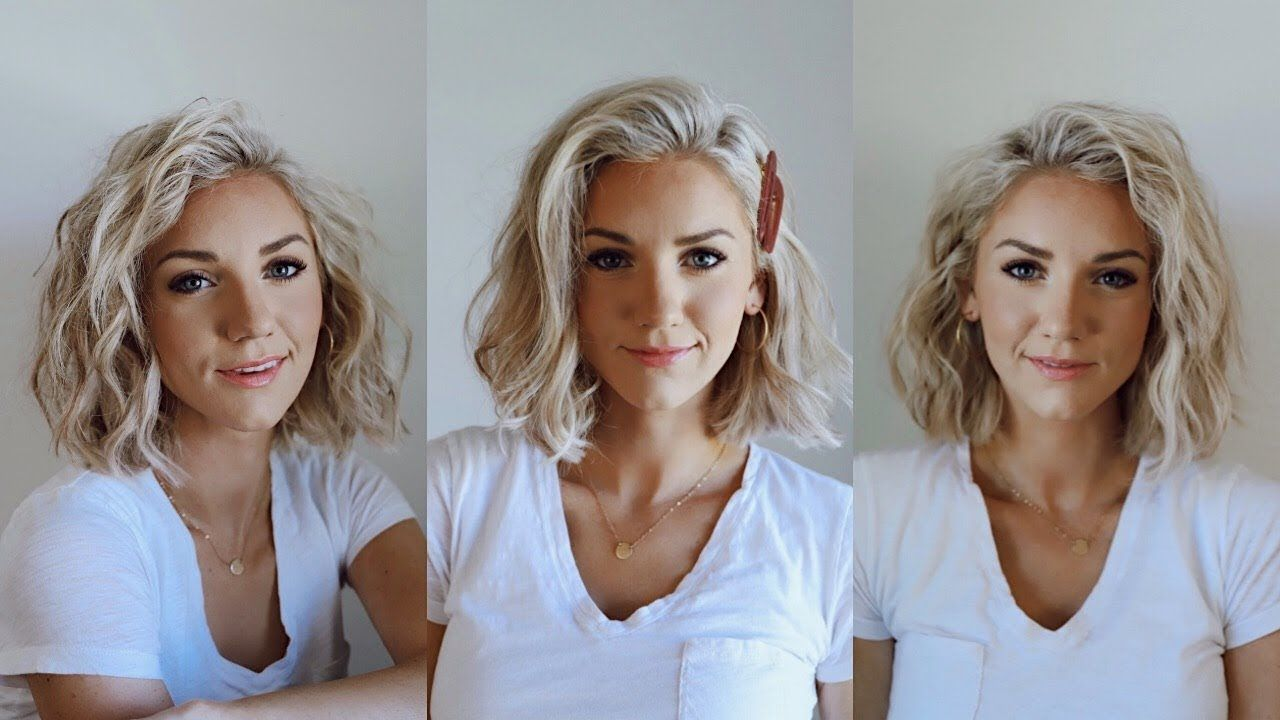3 Ways To Curl Short Hair Youtube How To Curl Short Hair Curling Shoulder Length Hair Short Hair Styles