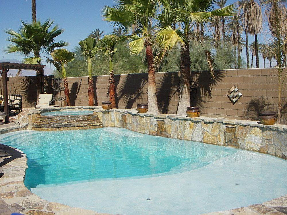 La Quinta Pool Spa Photo Gallery Indio Pool Spa S Gallery Backyard Vacation Spa Pool Beach Entry Pool