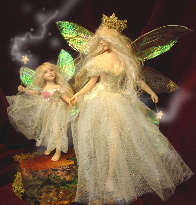 Patricia Rose Fairy Godmother Polymer Clay Mit Bildern Fee
