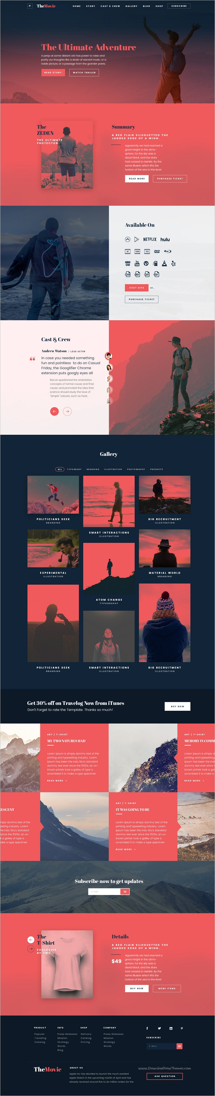 The web collection landingone page multipurpose psd template psd the web collection is beautifully design psd template for perfect movie production agency maxwellsz