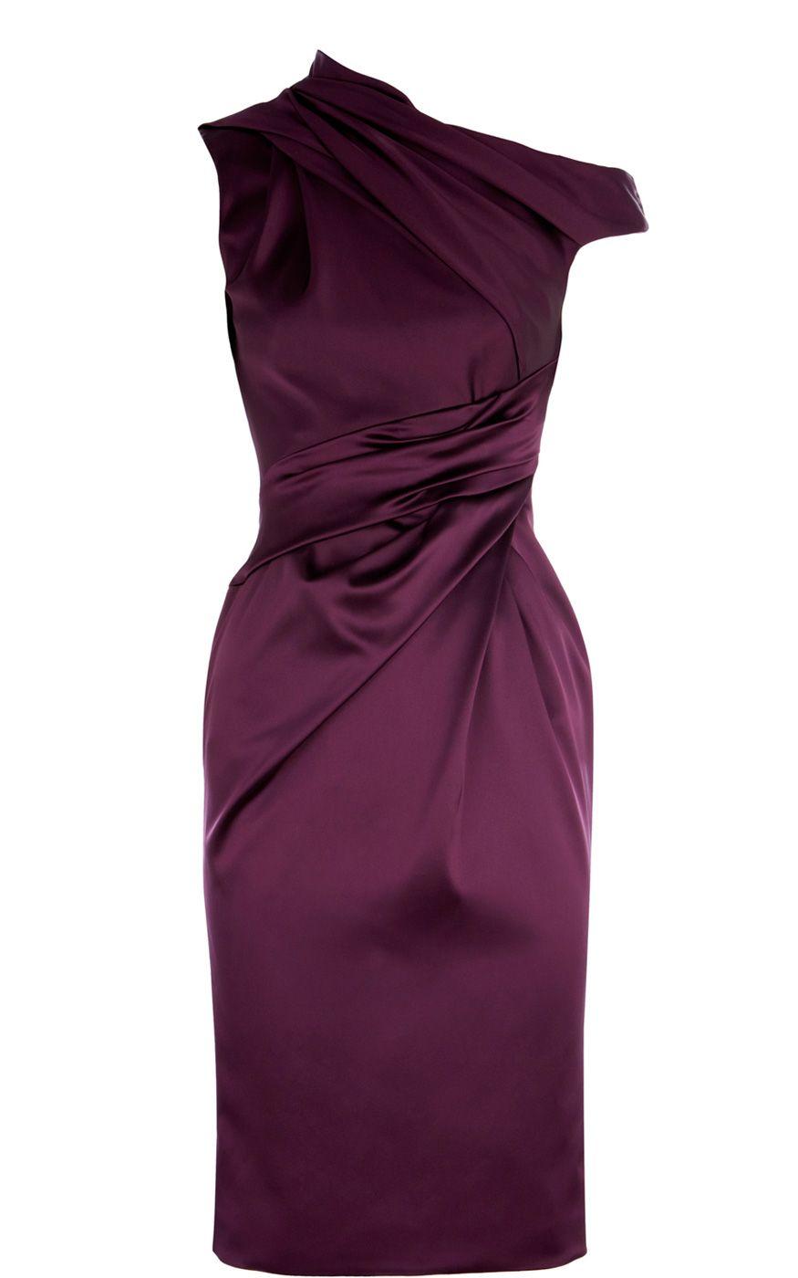 21791dea Karen Millen plum dress. Pretty in general, but would be super sassy as a  bridesmaids dress, too.