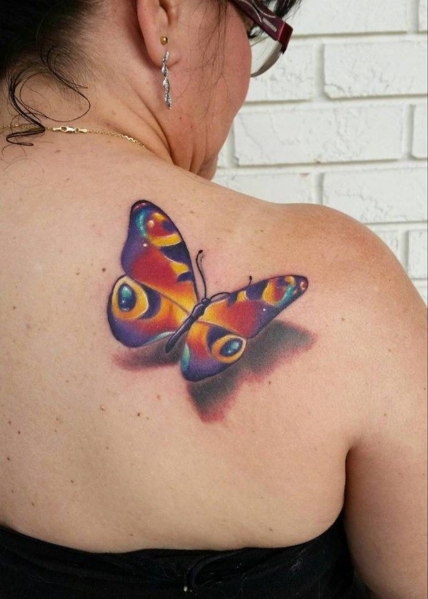 43 Amazing 3D Tattoo Designs for Girls | More 3d butterfly tattoo ...