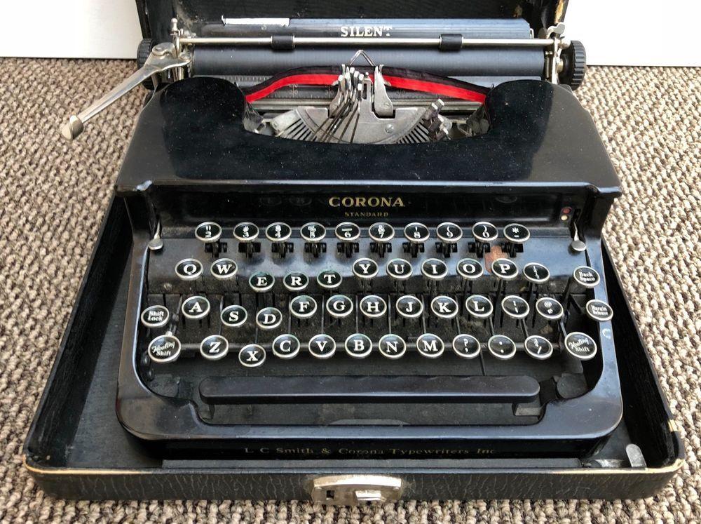 Very Nice Vintage L C Smith Corona Standard Silent Antique Typewriter Nr Typewriter Antique Typewriter Antiques