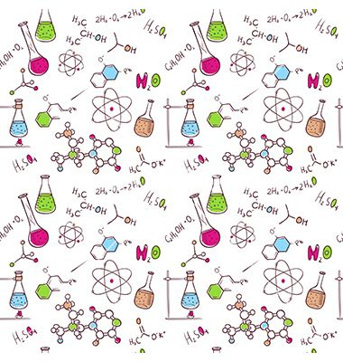 Hand Draw Chemistry Pattern Vector Image On Vectorstock Doodle Background Chemistry Drawing How To Draw Hands