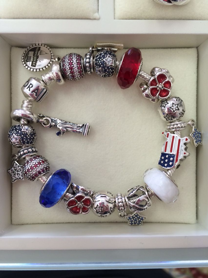 Usa Pandora Bracelet I Put Together At Work Great For