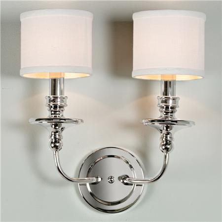 Bathroom Light Fixtures With Fabric Shades springfield sconce with linen drum shades 2 light | drum shade