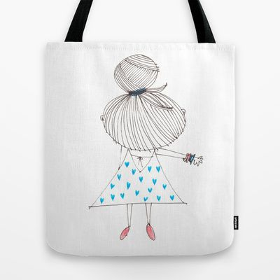 just a girl 2 Tote Bag by Little Ell