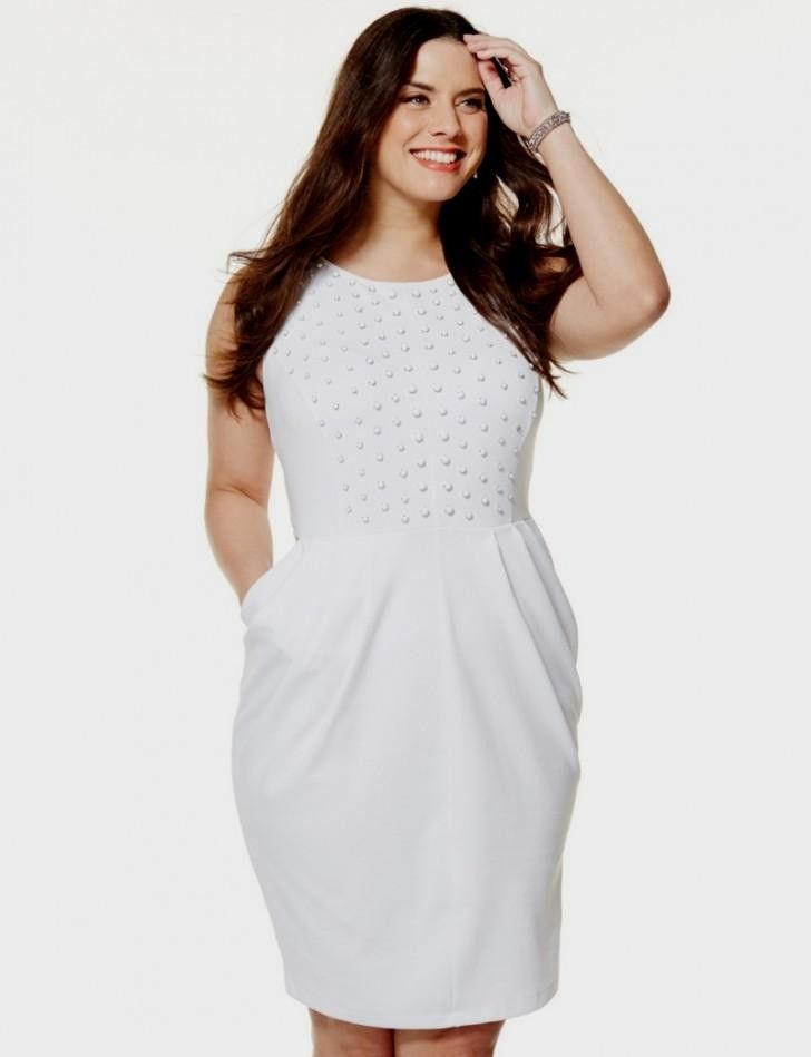 Cutenfanci Plus Size White Cocktail Dress 20 Cocktaildresses