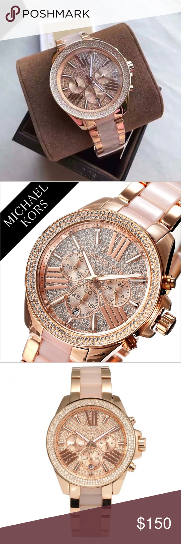 79d3fe06c4f1 Michael Kors Womens MK6096 - Wren WATCH Round watch featuring pave-set  crystal bezel