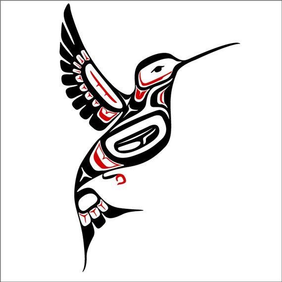 Northwest Coast Style Hummingbird Decal By Wilsongraphics On Etsy