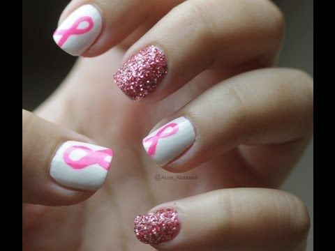 Breast Cancer Nails for October
