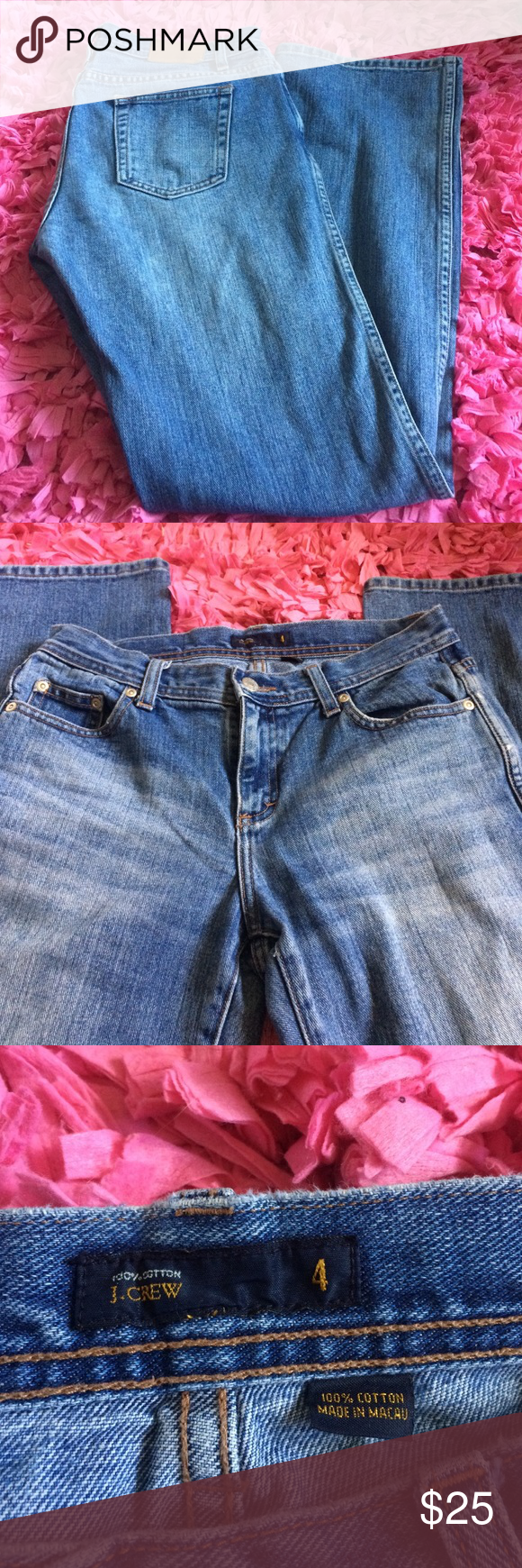 Jcrew Jeans Excellent condition. Size 4.  Measurements laying flat: Waist: 15 Inseam: 31  ❤️No trades or other websites ❤️Open to reasonable offers  ❤️Next day ship Mon-Sat ❤️4.9 rating ❤️200+ listings sold J. Crew Jeans