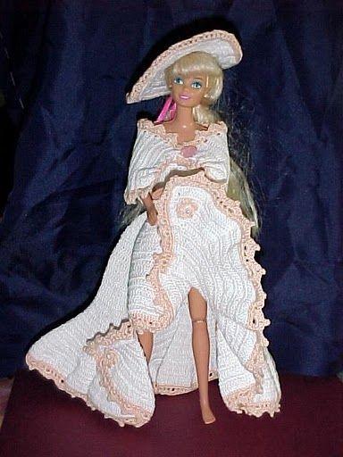 Image result for horgolt barbie ruhák