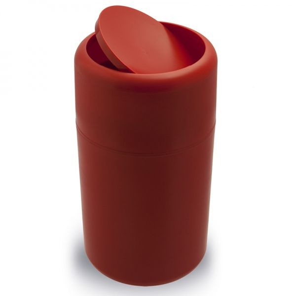 Der Rote Abfalleimer Capsule Flip Mit Praktischen Schwingdeckel Von Qualy  Design In Unserem Design Shop Online Bestellen.