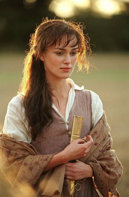 Keira Knightley as Elizabeth Bennet in Pride and Prejudice (2005). I want to teach in this dress!