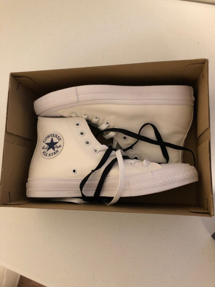 f899a8c4996ed3 Converse Chuck Taylor All Star II 2 High White Mens size 7 Womans ...