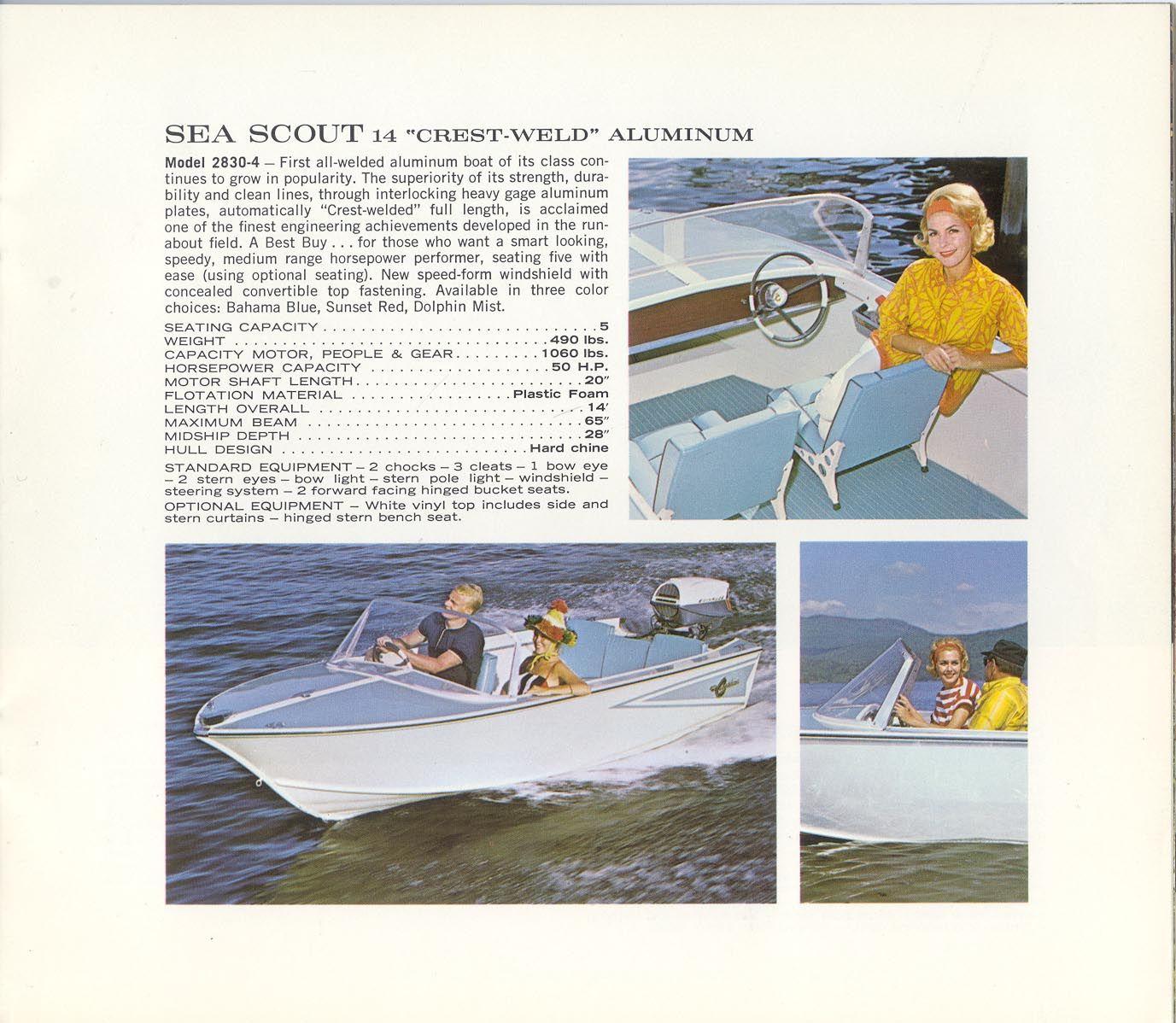 1964 Crestliner Sea Scout 14 Vintage Boats Aluminum Boat Boat