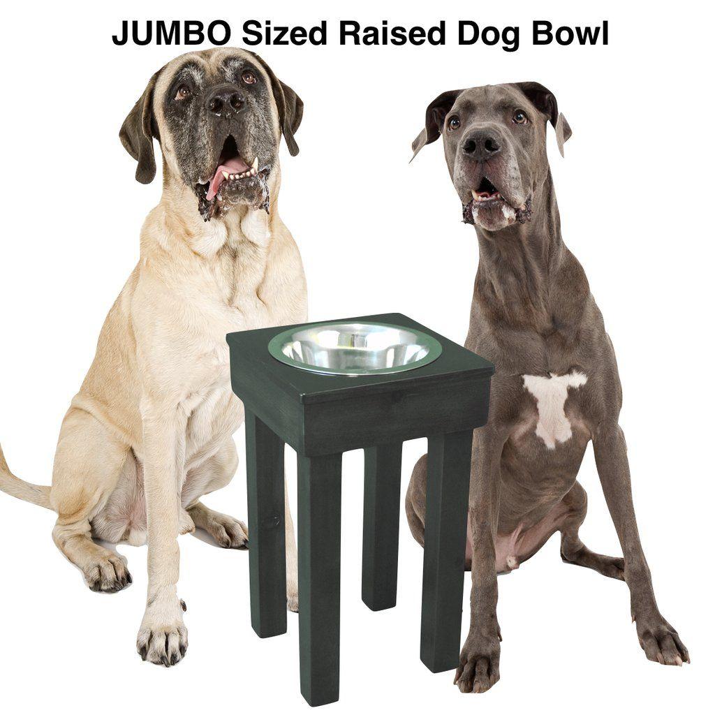 Raised Dog Bowl 24 Tall Jumbo Single Bowl Elevated Pet Feeder