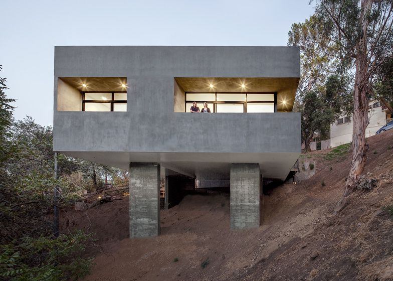 home design simple concrete house design cube shaped house built in cliff brilliant hillside - Concrete Home Designs