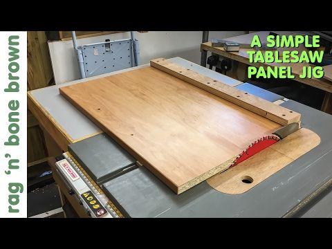 Simple Panel Cutting Jig For Dewalt Dw745 Tablesaw Wood