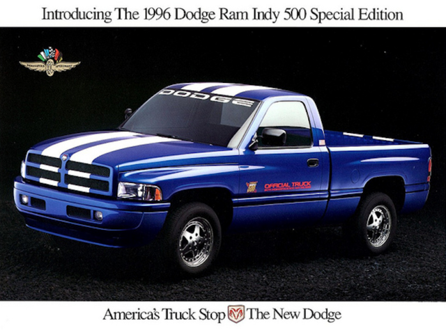 1996 Dodge Ram Indy 500 Dodge Dodge Ram Trucks
