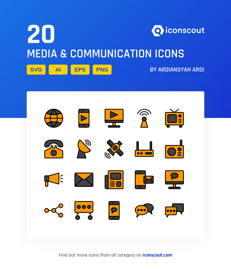 Download Media Communication Icon Pack Available In Svg Png Eps Ai Icon Fonts Communication Icon Media Communication Communication