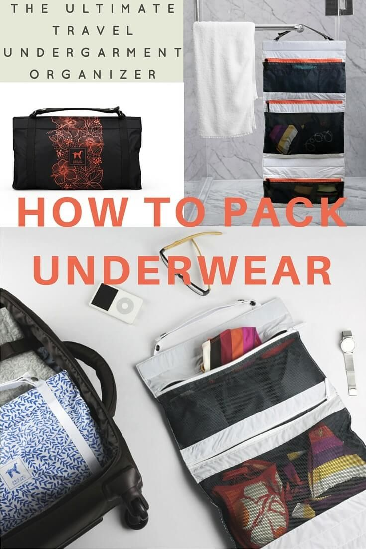 How to pack underwear for a trip - this is my favourite travel product for 2016. I never knew I needed an underwear organizer until I got one. They save me so much packing confusion and make me feel organised. I can easily find my underwear, socks and swimmers. No more digging around!