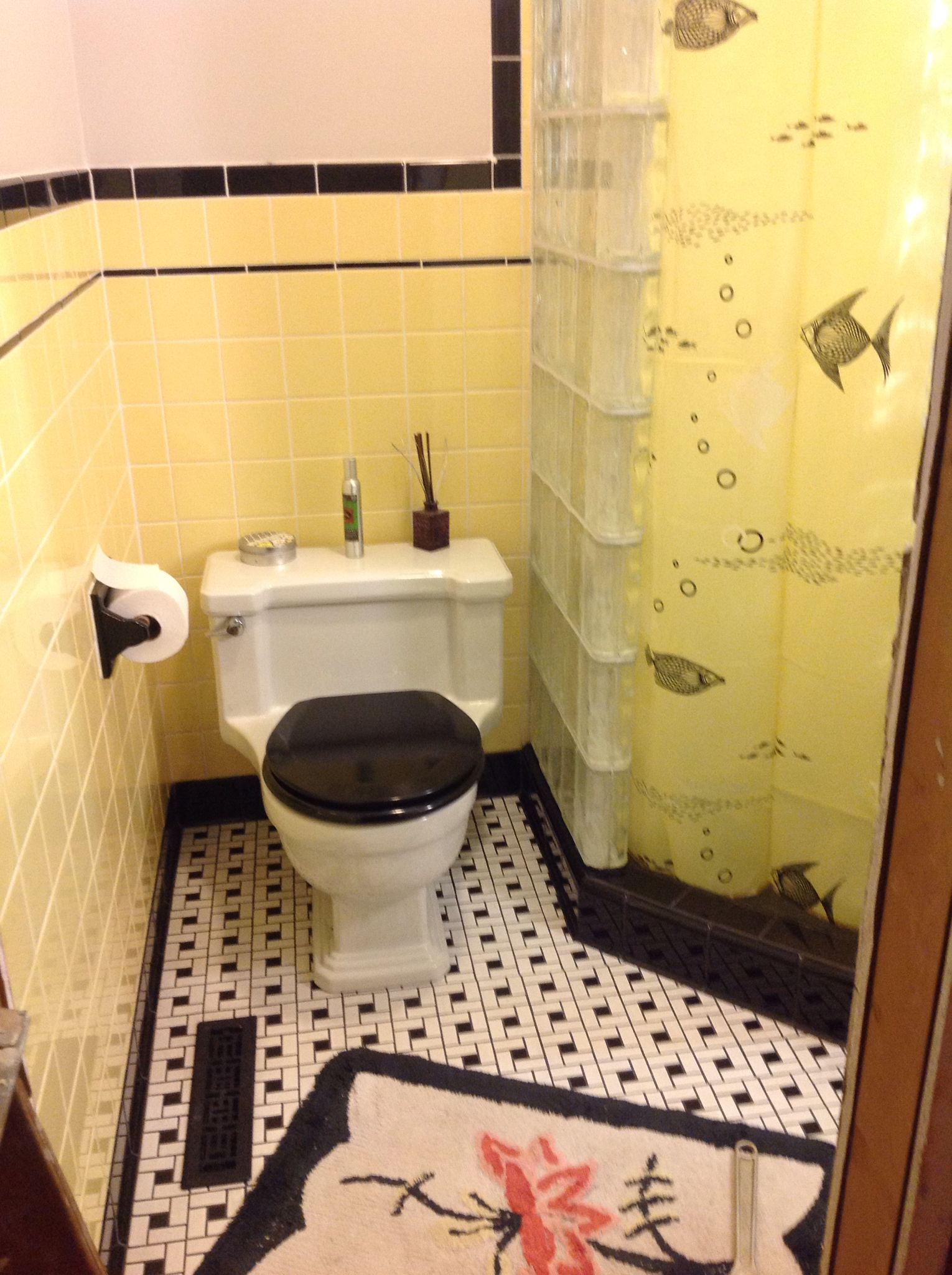 Retro Bathroom Remodel Using Interceramic Metro Yellow Purchased